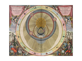 The Planisphere of Brahe  Harmonia Macrocosmica  1660