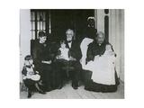 Jefferson Davis with Family