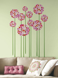 Bright Floral Dot Peel and Stick Giant Wall Decals