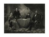 President Lincoln with His Family