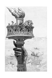 Torch of Statue of Liberty  1885