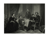 President Lincoln with His Family  1861