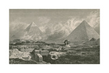 Giza Pyramids and Sphinx  1878