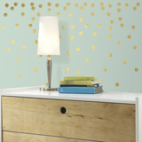 Gold Confetti Dots Peel and Stick Wall Decals