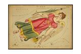 Virgo Constellation  Zodiac Sign  1825