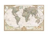 National Geographic : Carte du monde politique, planisphère - mappemonde Reproduction d'art par National Geographic Maps