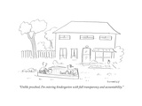 """Unlike preschool  I'm entering kindergarten with full transparency and acÉ"" - Cartoon"