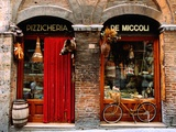 Bicycle Parked Outside Historic Food Store, Siena, Tuscany, Italy Reproduction d'art par John Elk III