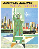 New York - American Airlines - Statue of Liberty