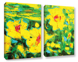 Impressions Of Dahlias 2 Piece Gallery Wrapped Canvas Set