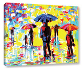 Shopping Saturday Afternoon Gallery Wrapped Canvas