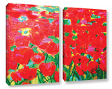 Knee Deep In Roses 2 Piece Gallery Wrapped Canvas Set