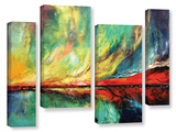 Aurora 4 Piece Gallery Wrapped Canvas Set