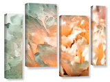 Abstract Carnation 4 Piece Gallery Wrapped Canvas Set