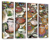 Southwestern Pots 4 Piece Gallery Wrapped Canvas Set