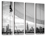 Sailor's Chicago Skyline 4 Piece Gallery Wrapped Canvas Set