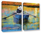 Panda Reflections 2 Piece Gallery Wrapped Canvas Set
