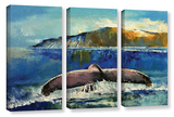 Whale Song 3 Piece Gallery Wrapped Canvas Set