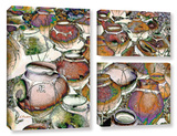 Southwestern Pots 3 Piece Gallery Wrapped Canvas Set