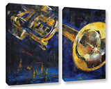 Trumpet 2 Piece Gallery Wrapped Canvas Set