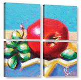 Simple Arrangement 4 Piece Gallery Wrapped Canvas Set