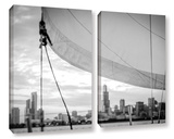 Sailor's Chicago Skyline 2 Piece Gallery Wrapped Canvas Set