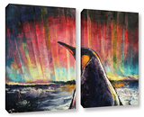 Penguin 2 Piece Gallery Wrapped Canvas Set