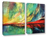 Aurora 2 Piece Gallery Wrapped Canvas Set