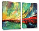 Aurora 2 Piece Gallery Wrapped Canvas Set