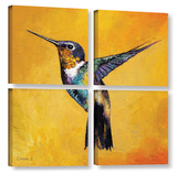 Hummingbird 4 Piece Gallery Wrapped Canvas Set