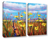 Beach Path Well-Worn 2 Piece Gallery Wrapped Canvas Set
