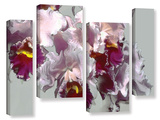 Abstract Orchid 4 Piece Gallery Wrapped Canvas Set