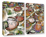Southwestern Pots 2 Piece Gallery Wrapped Canvas Set