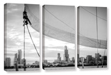 Sailor's Chicago Skyline 3 Piece Gallery Wrapped Canvas Set