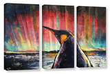 Penguin 3 Piece Gallery Wrapped Canvas Set
