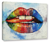 Lips Gallery Wrapped Canvas