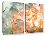 Abstract Carnation 2 Piece Gallery Wrapped Canvas Set