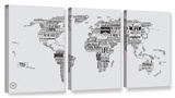 World of Life: Plain I 3 Piece Gallery Wrapped Canvas Set