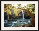 Scenic View of a Waterfall on Havasu Creek