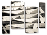 Maine's Boats 4 Piece Gallery Wrapped Canvas Set