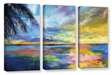 Islamoradana Sunset 3 Piece Gallery Wrapped Canvas Set
