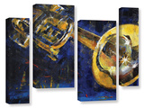 Trumpet 4 Piece Gallery Wrapped Canvas Set