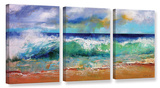 Ocean Waves  3 Piece Gallery Wrapped Canvas Set