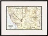 1948 Southwestern United States Map