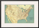 1933 United States of America Map