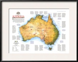 1988 Travelers Look At Australia Map