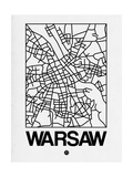 White Map of Warsaw