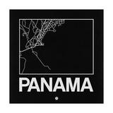 Black Map of Panama