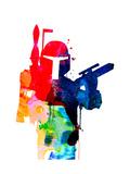 Star Warrior Boba Fett Watercolor