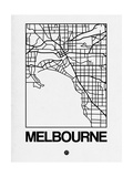White Map of Melbourne